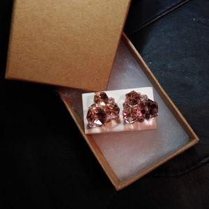 Jewelry - Stylish Pink Gemstone Cluster Studs